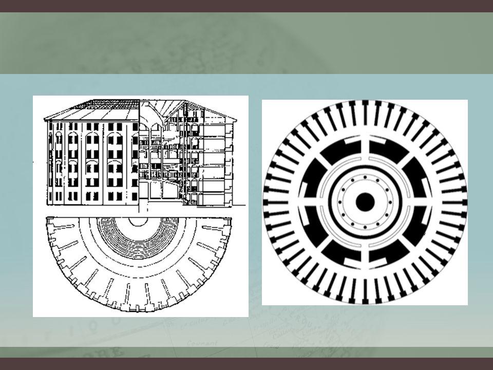 • a modernitás sajátos fegyelmező terekkel jellemezhető: börtön, iskola, pszichiátria (folyamatos individualizáló felügyeletgyakorlás) • e térbeli szervezési elvek csupán egy szélesebb diszciplinarizálódási folyamat elemei voltak: apró fegyelmezési technikák elszaporodása az egész társadalomban