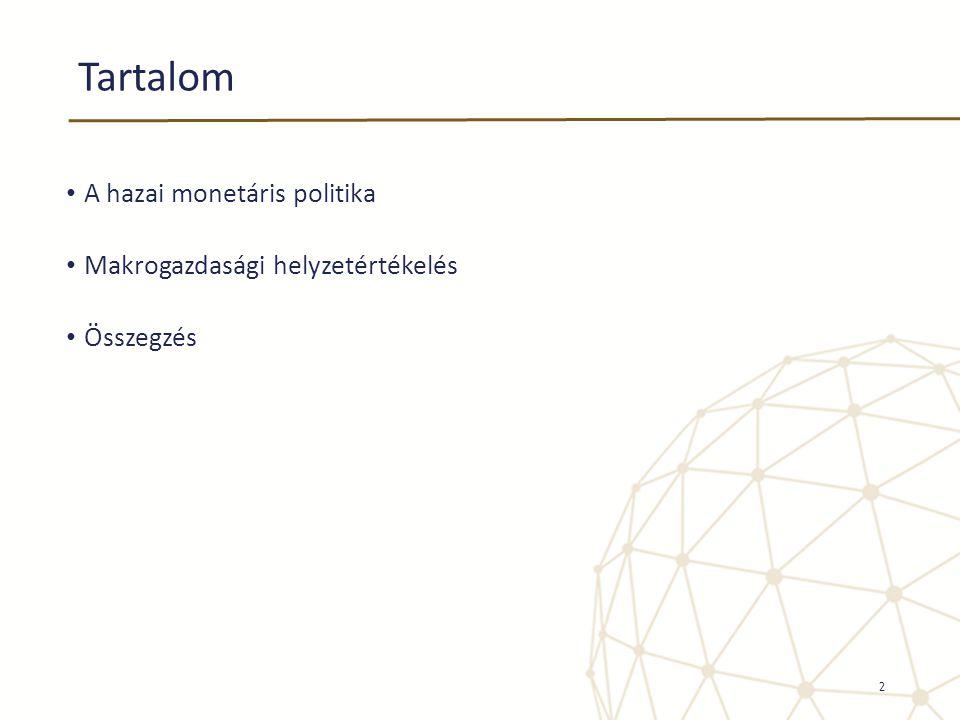 Tartalom • A hazai monetáris politika • Makrogazdasági helyzetértékelés • Összegzés 2