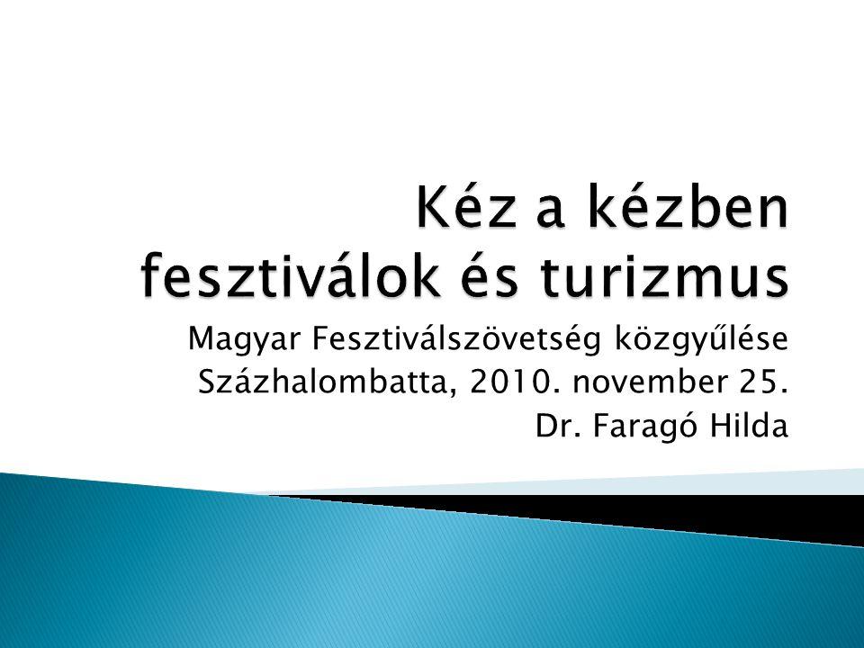 Magyar Fesztiválszövetség közgyűlése Százhalombatta, 2010. november 25. Dr. Faragó Hilda