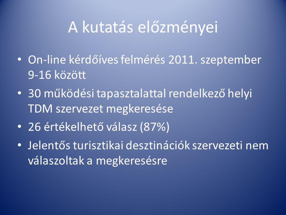 A kutatás előzményei • On-line kérdőíves felmérés 2011.