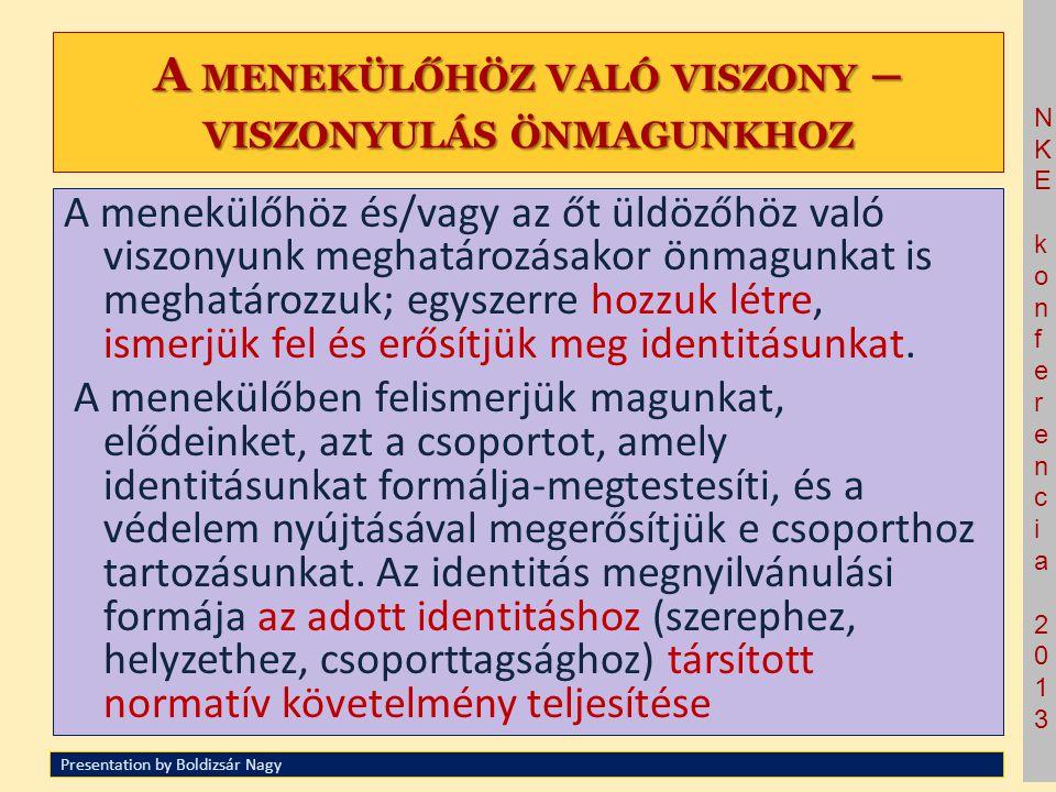 NKE konferencia 2013NKE konferencia 2013 A) I DENTITÁS - ALKOTÓ, ( KOLLEKTÍV ) AZONOSSÁGON ALAPULÓ ÉRVEK A) I DENTITÁS - ALKOTÓ, ( KOLLEKTÍV ) AZONOSSÁGON ALAPULÓ ÉRVEK 1.