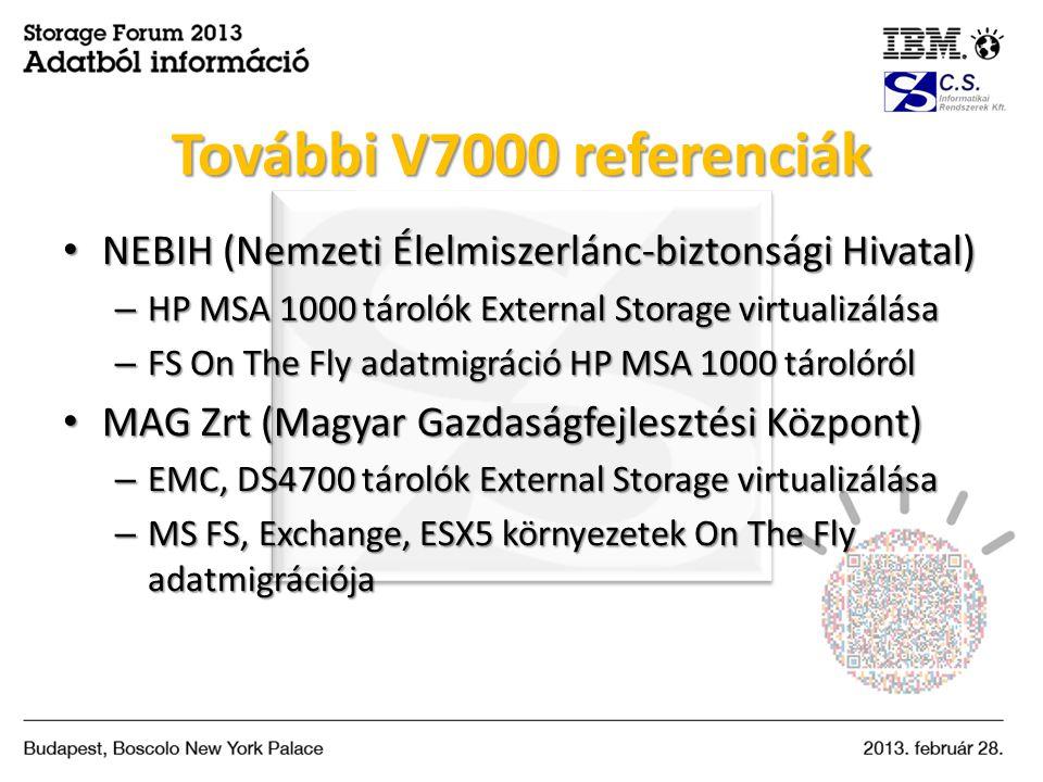 • NEBIH (Nemzeti Élelmiszerlánc-biztonsági Hivatal) – HP MSA 1000 tárolók External Storage virtualizálása – FS On The Fly adatmigráció HP MSA 1000 tár