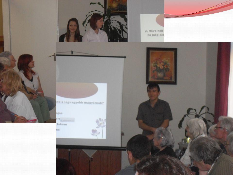 Műveltségi vetélkedő 24 általános műveltségre kitérő kérdés, az első három helyezett díjaztuk.