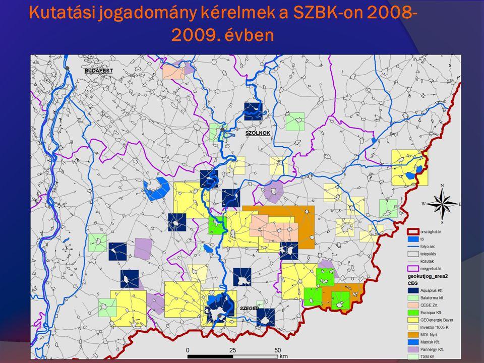 Kutatási jogadomány kérelmek a SZBK-on 2008- 2009. évben