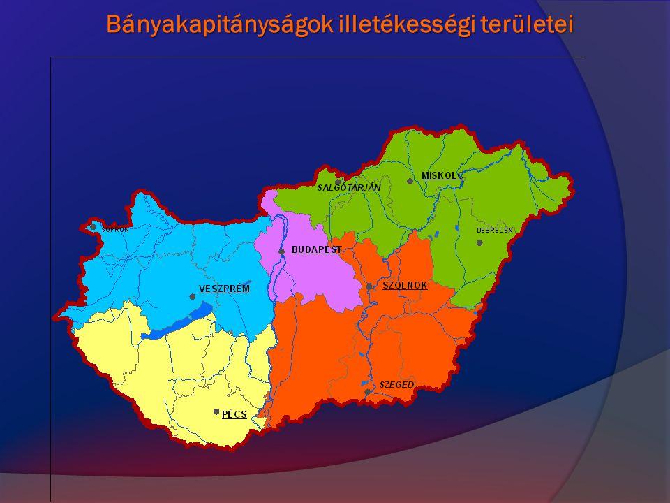 Bányakapitányságok illetékességi területei