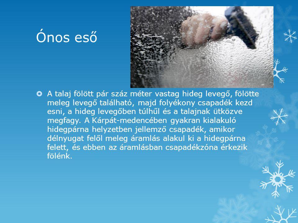 A havazás  Tisztán jégkristályokból álló csapadék.
