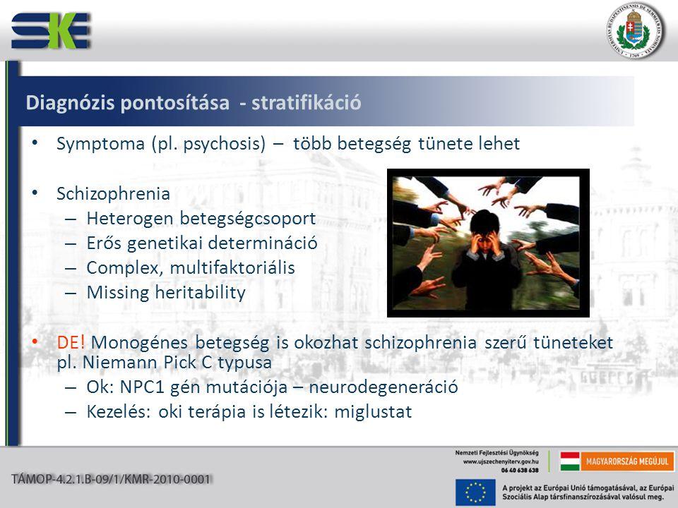 Diagnózis pontosítása - stratifikáció • Symptoma (pl.