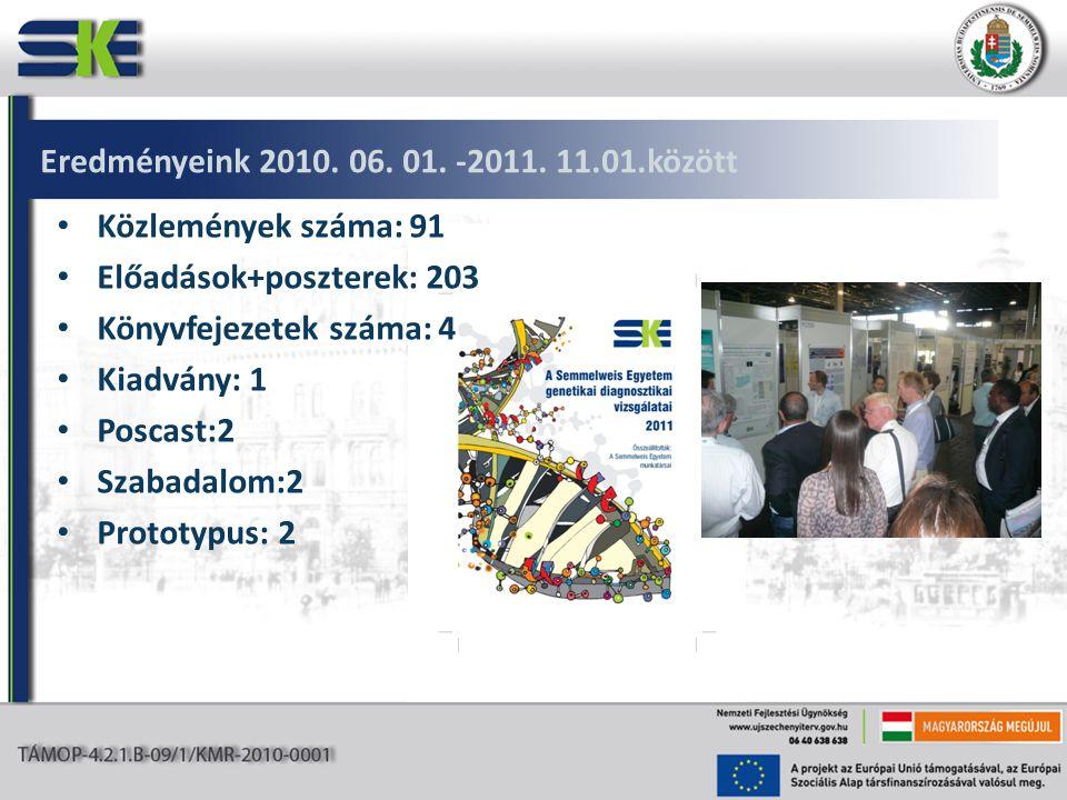 Eredményeink 2010. 06. 01. -2011.