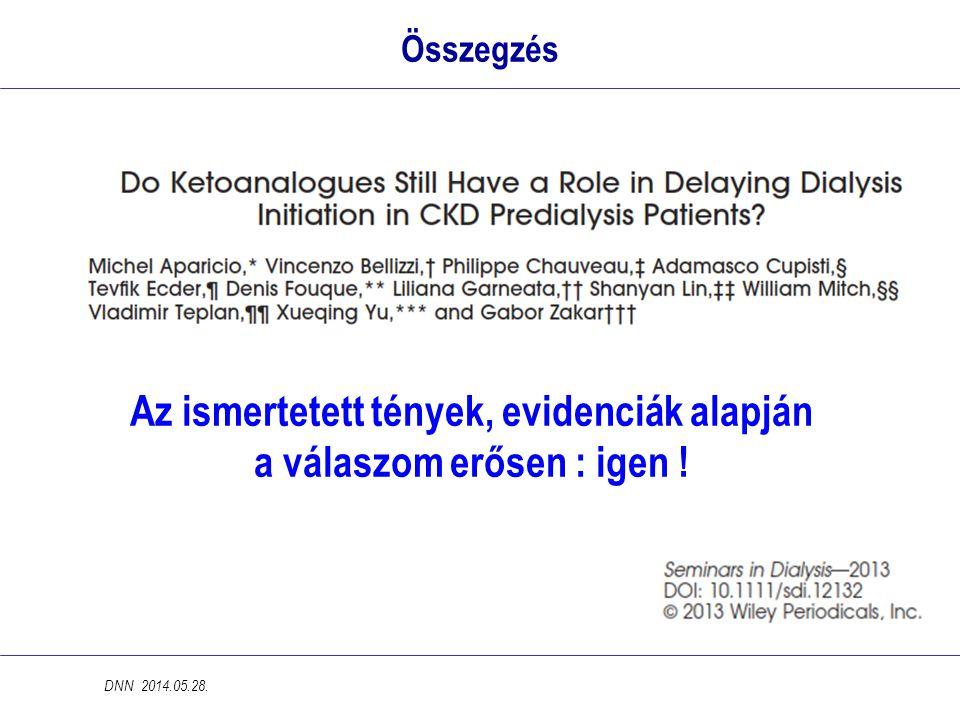 Összegzés DNN 2014.05.28. Az ismertetett tények, evidenciák alapján a válaszom erősen : igen !