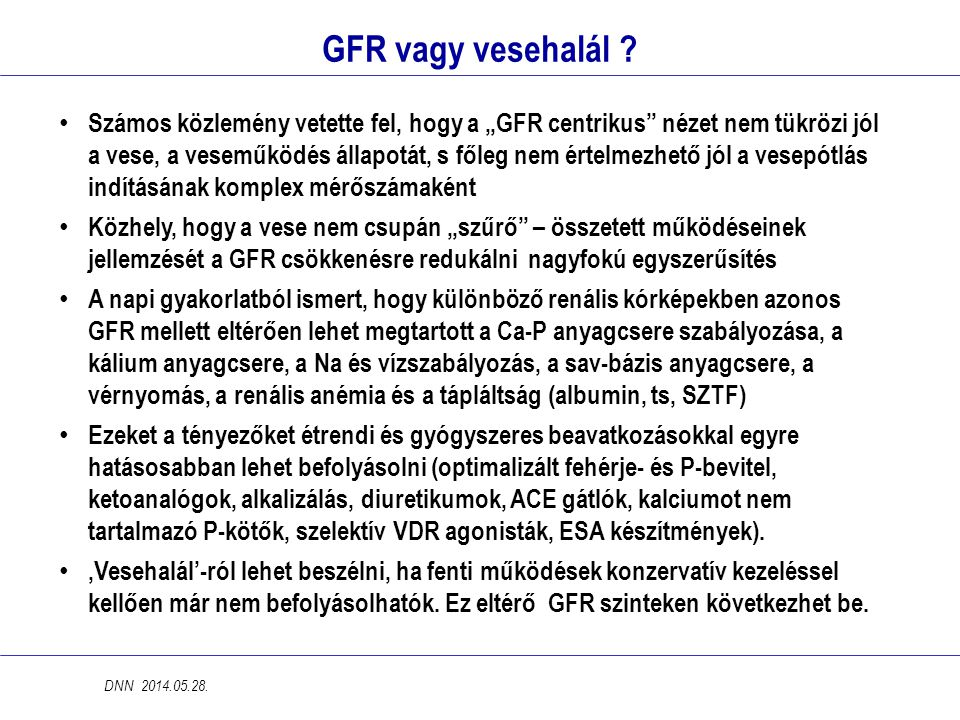 GFR vagy vesehalál .