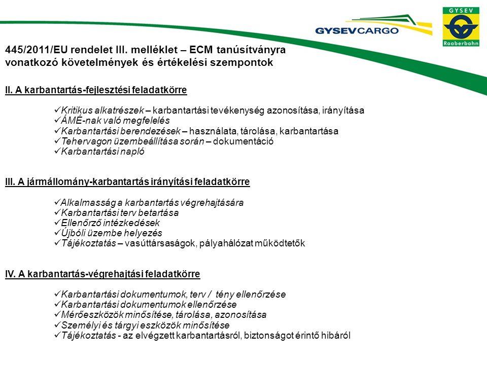 445/2011/EU rendelet III.