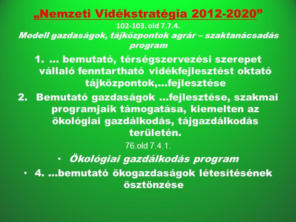 """""""Nemzeti Vidékstratégia 2012-2020 102-103.old 7.7.4."""
