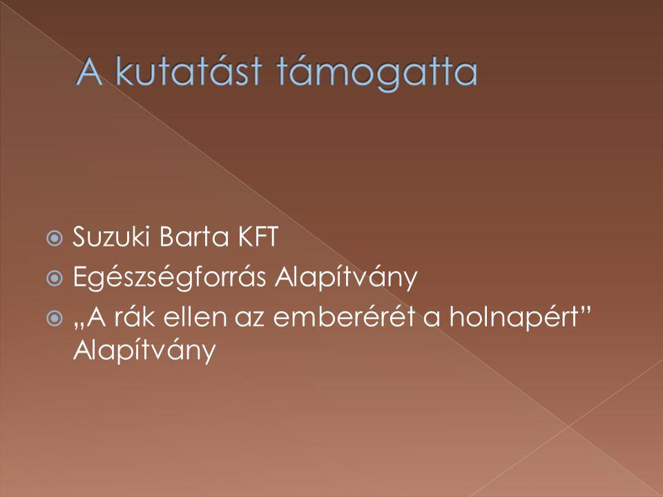 """ Suzuki Barta KFT  Egészségforrás Alapítvány  """"A rák ellen az emberérét a holnapért"""" Alapítvány"""