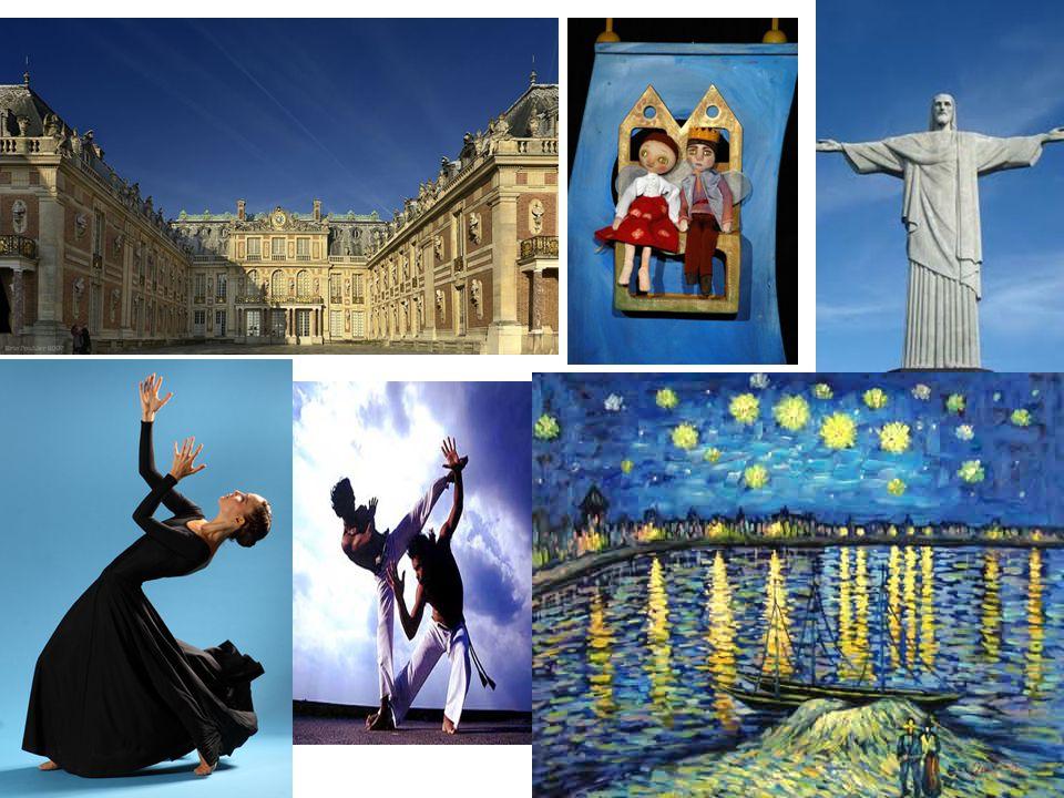 A hagyományos művészeti formák közé tartozik: • a zeneművészet, • az irodalom és a színművészet, • az építőművészet, • a képzőművészet, • a filmművészet, • digitális művészet:számítógépes zene, -grafika, - animáció...