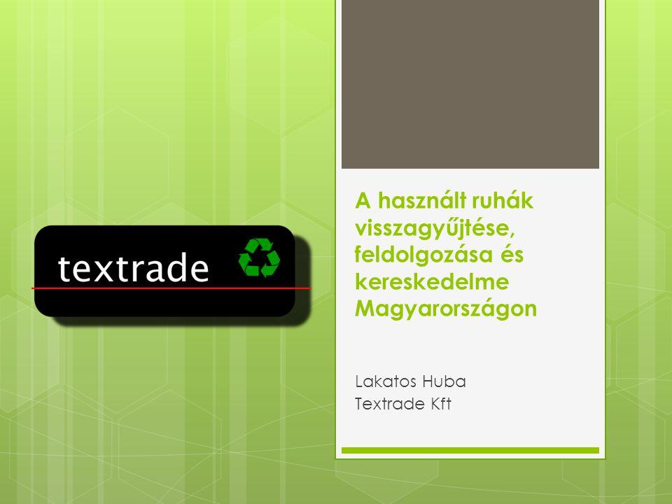 A használt ruhák visszagyűjtése, feldolgozása és kereskedelme Magyarországon Lakatos Huba Textrade Kft