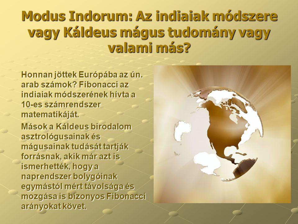 Modus Indorum: Az indiaiak módszere vagy Káldeus mágus tudomány vagy valami más? Honnan jöttek Európába az ún. arab számok? Fibonacci az indiaiak móds
