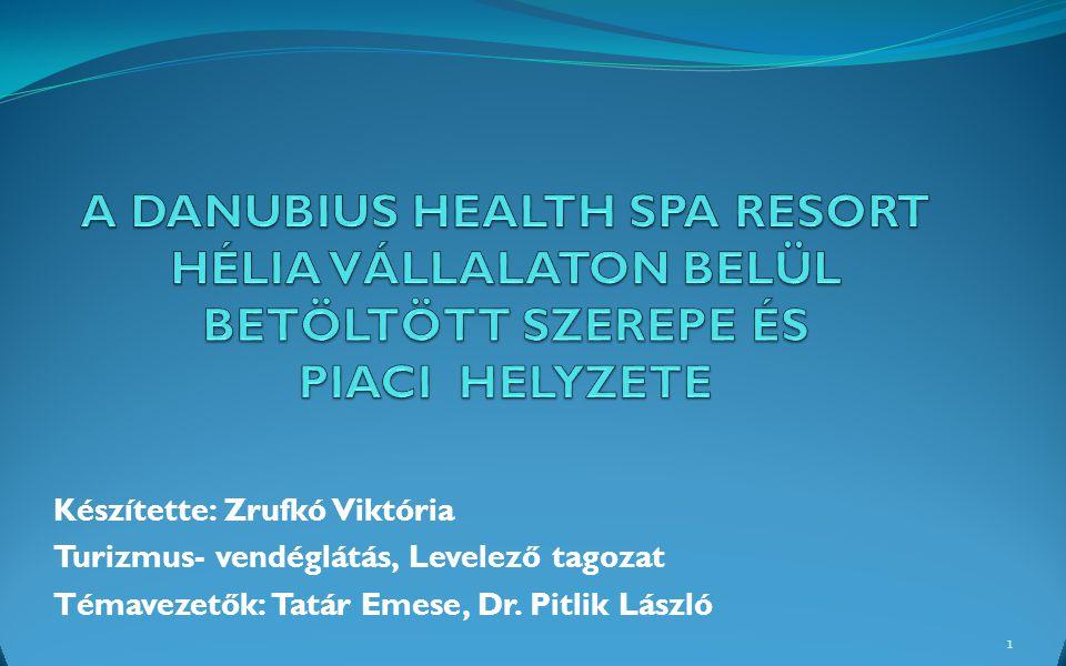 Készítette: Zrufkó Viktória Turizmus- vendéglátás, Levelező tagozat Témavezetők: Tatár Emese, Dr. Pitlik László 1