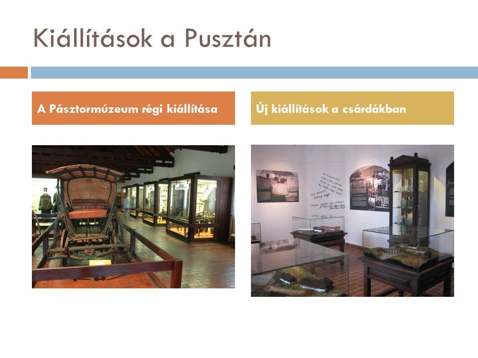 Kiállítások a Pusztán A Pásztormúzeum régi kiállításaÚj kiállítások a csárdákban