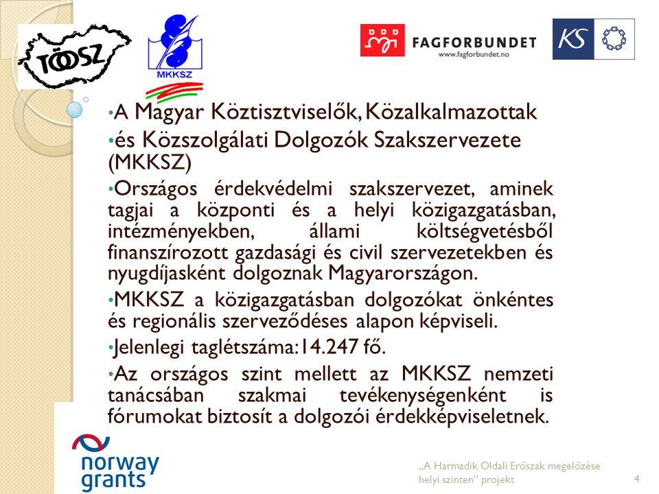 • A Magyar Köztisztviselők, Közalkalmazottak • és Közszolgálati Dolgozók Szakszervezete (MKKSZ) • Országos érdekvédelmi szakszervezet, aminek tagjai a