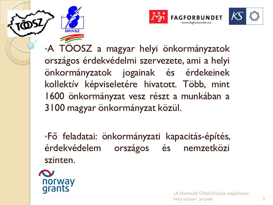 • A TÖOSZ a magyar helyi önkormányzatok országos érdekvédelmi szervezete, ami a helyi önkormányzatok jogainak és érdekeinek kollektív képviseletére hi