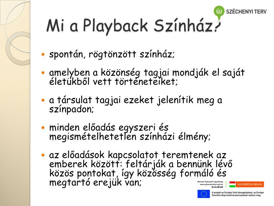 Mi a Playback Színház.