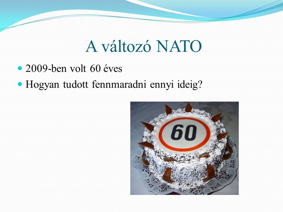A változó NATO  2009-ben volt 60 éves  Hogyan tudott fennmaradni ennyi ideig?