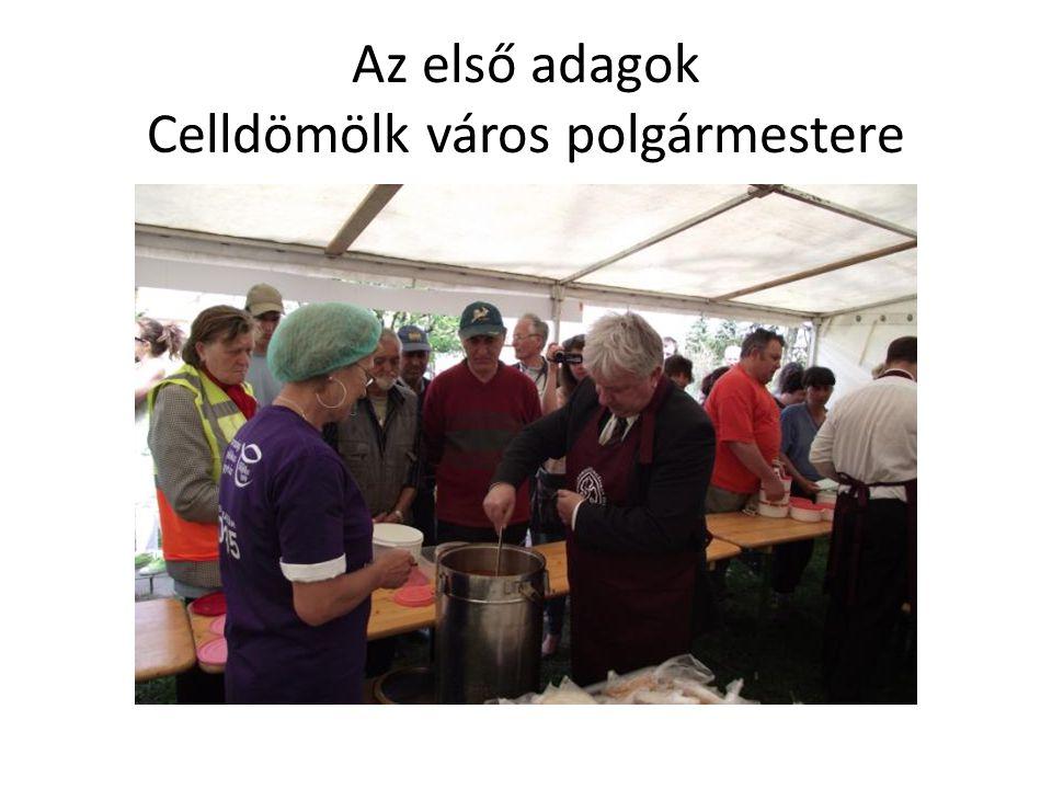 Az első adagok Celldömölk város polgármestere