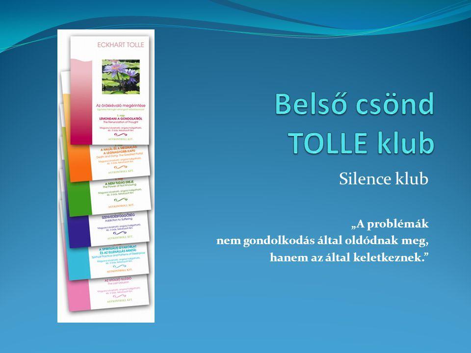 """Silence klub """"A problémák nem gondolkodás által oldódnak meg, hanem az által keletkeznek."""""""