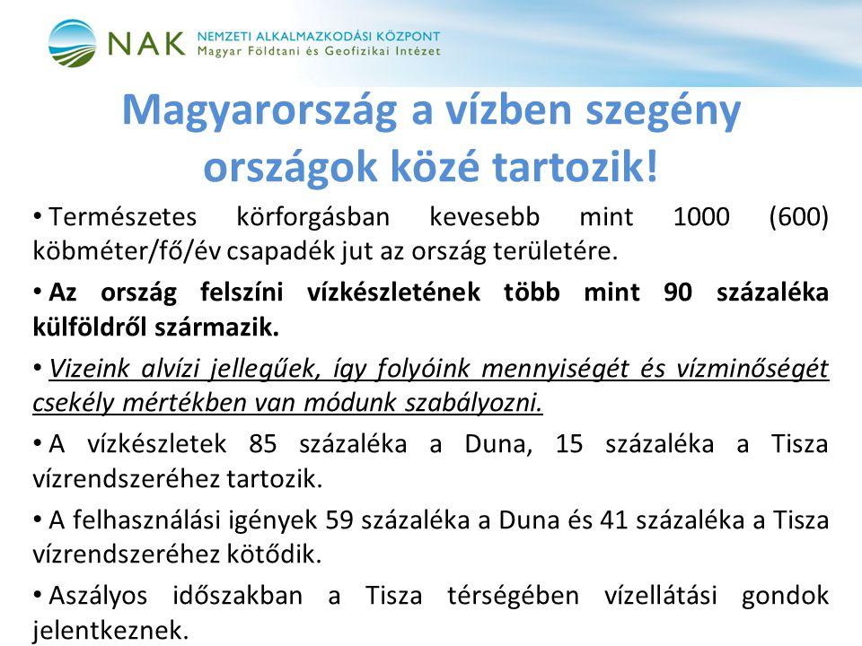 Magyarország a vízben szegény országok közé tartozik.