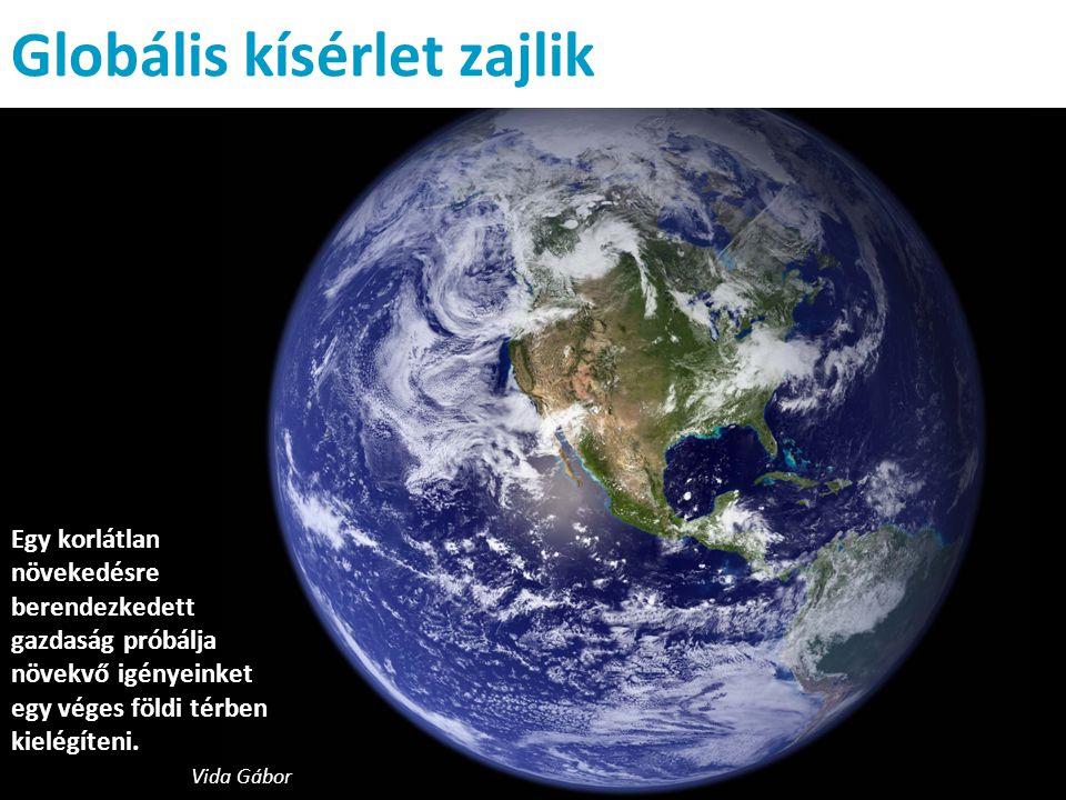 Globális kísérlet zajlik Egy korlátlan növekedésre berendezkedett gazdaság próbálja növekvő igényeinket egy véges földi térben kielégíteni.
