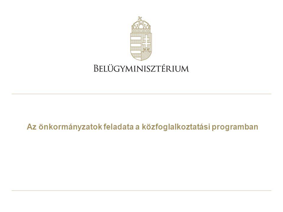 Az önkormányzatok feladata a közfoglalkoztatási programban
