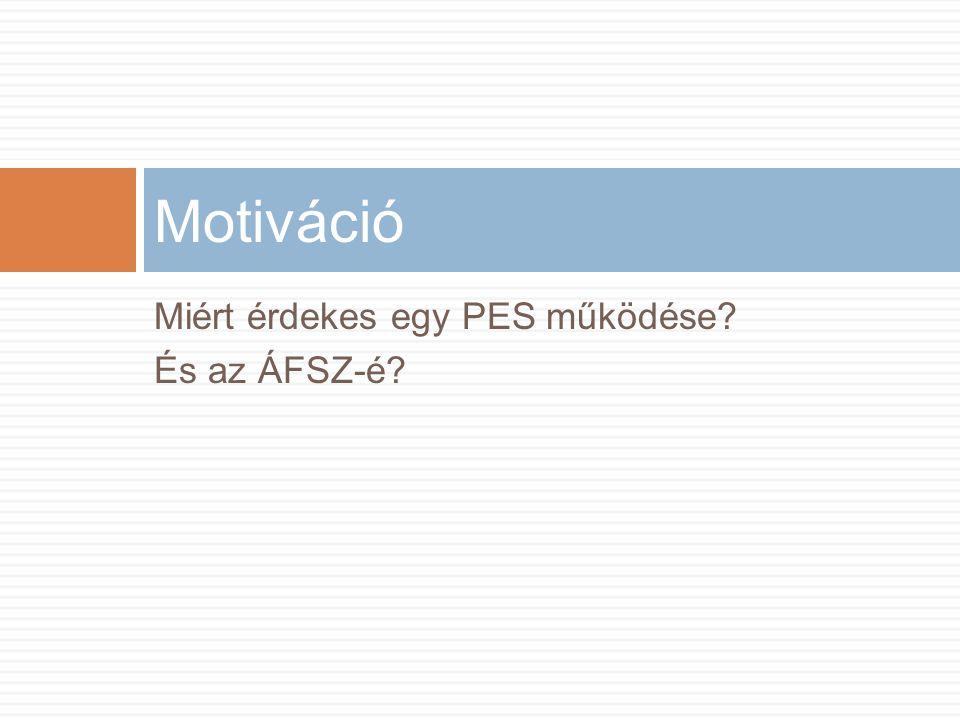 Miért érdekes egy PES működése És az ÁFSZ-é Motiváció
