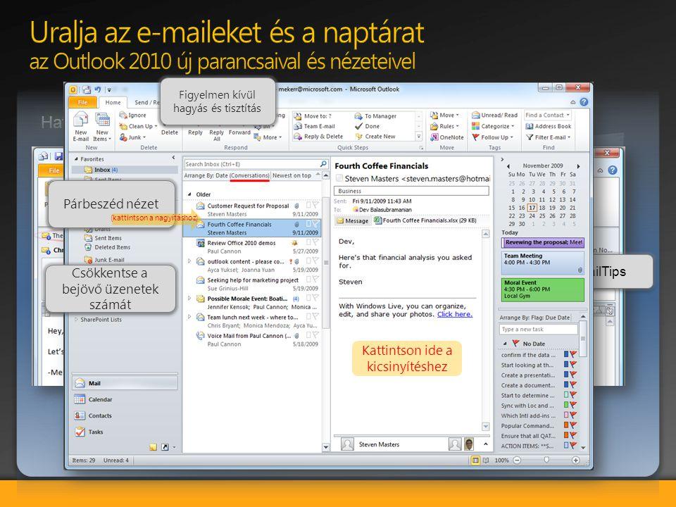 Bemutató közvetítése: Közvetlenül a PowerPoint-ból tudja közvetíteni a bemutatót bárki számára, aki rendelkezik egy web böngészővel.
