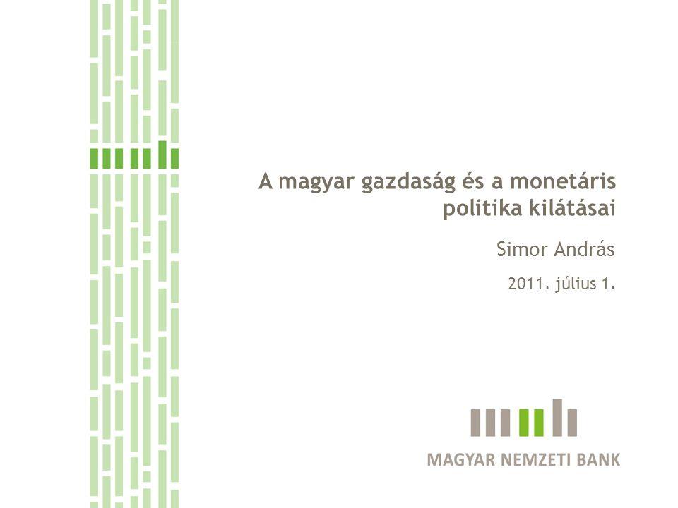 A monetáris politikai döntéshozatal szempontjai A magyar gazdaság és a monetáris politika kilátásai 2011.