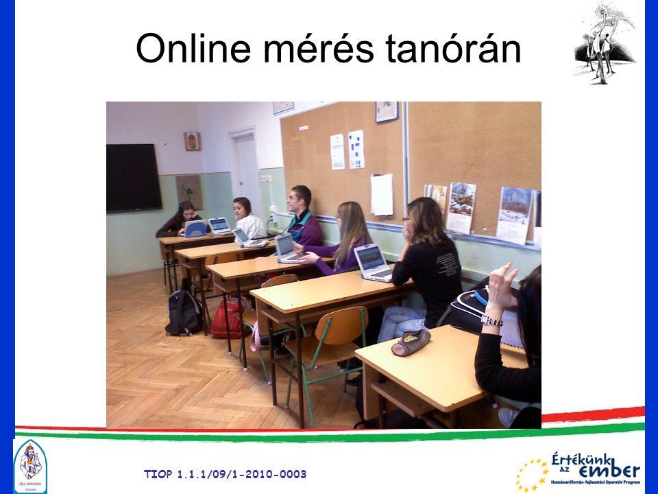 Online mérés tanórán TIOP 1.1.1/09/1-2010-0003