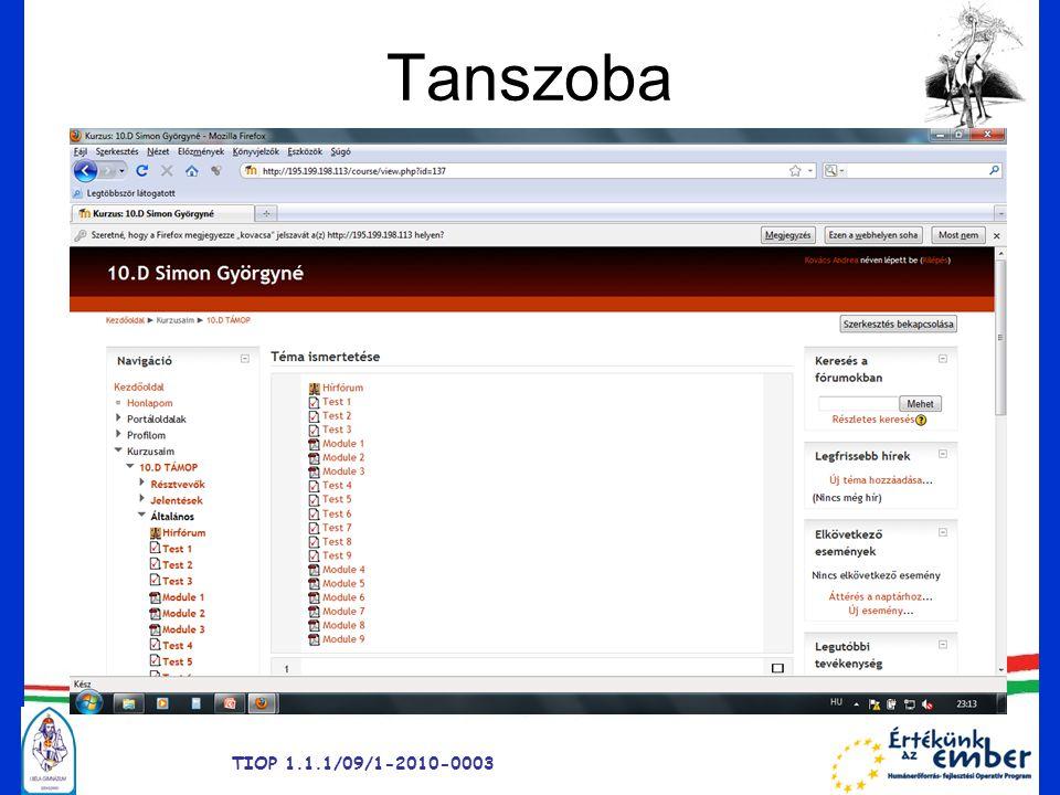 Tanszoba TIOP 1.1.1/09/1-2010-0003