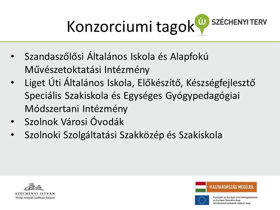 Konzorciumi tagok • Szandaszőlősi Általános Iskola és Alapfokú Művészetoktatási Intézmény • Liget Úti Általános Iskola, Előkészítő, Készségfejlesztő S