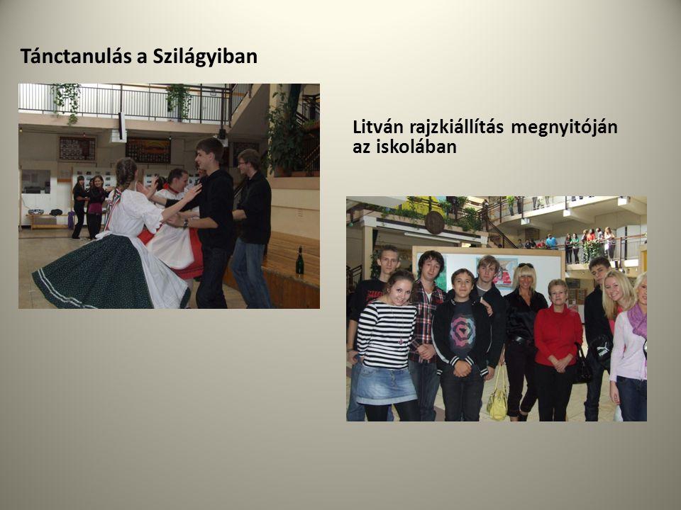 Tánctanulás a Szilágyiban Litván rajzkiállítás megnyitóján az iskolában