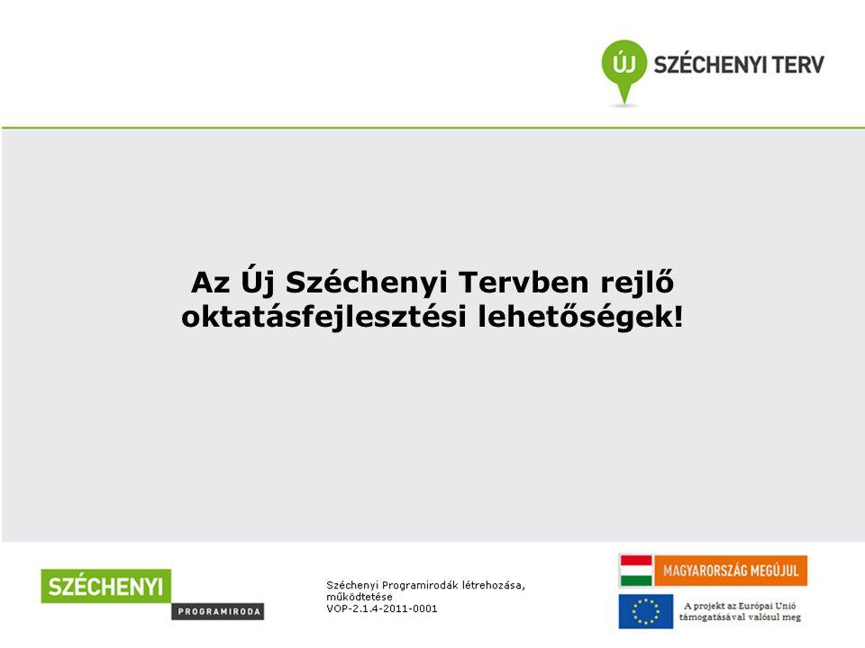 Az Új Széchenyi Tervben rejlő oktatásfejlesztési lehetőségek!