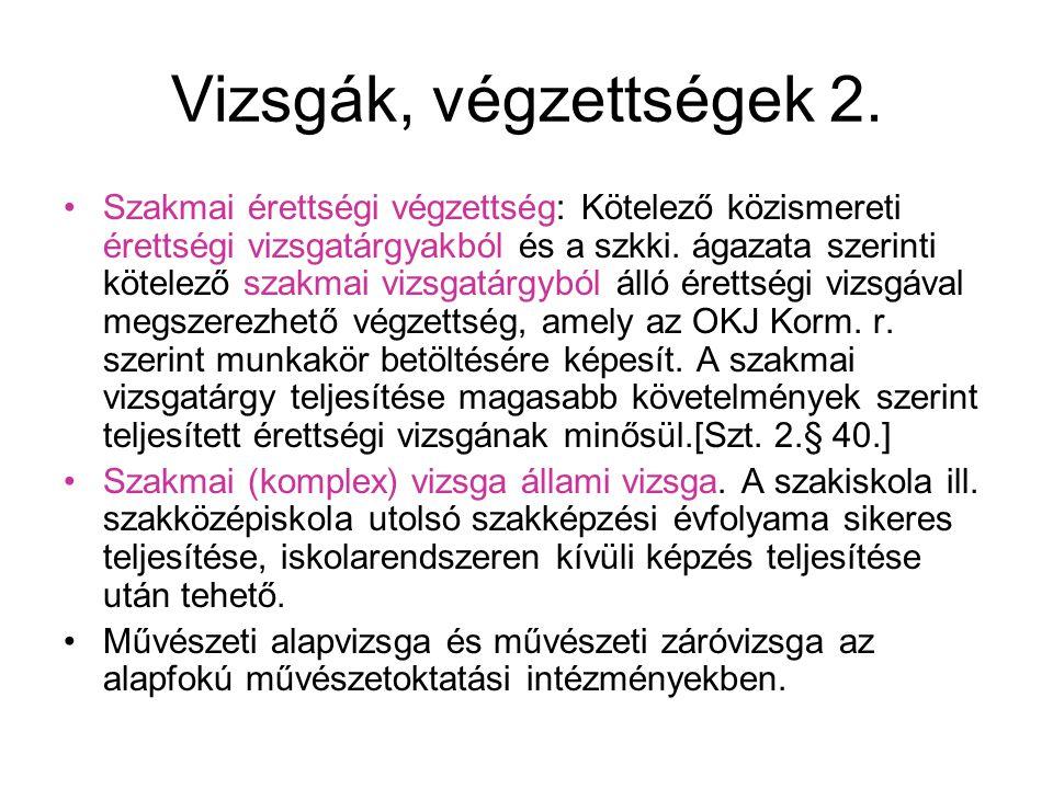 A köznevelési rendszer intézményei •Óvoda:3 évtől (2014) tanköteles korig.