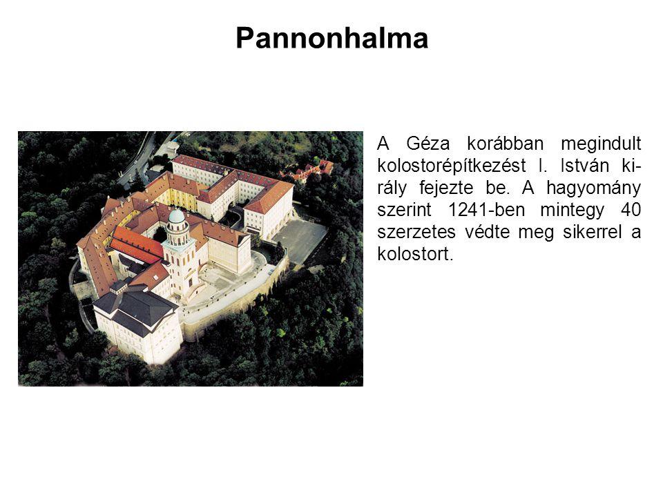 Tihany A félsziget hegygerincén ötszögletű torony falmaradványai, a kúp oldalán kettős árokrendszer nyomai vehetők ki.