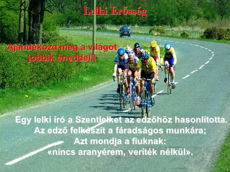 Lelki Er ő sség Egy lelki író a Szentlelket az edzőhöz hasonlította.