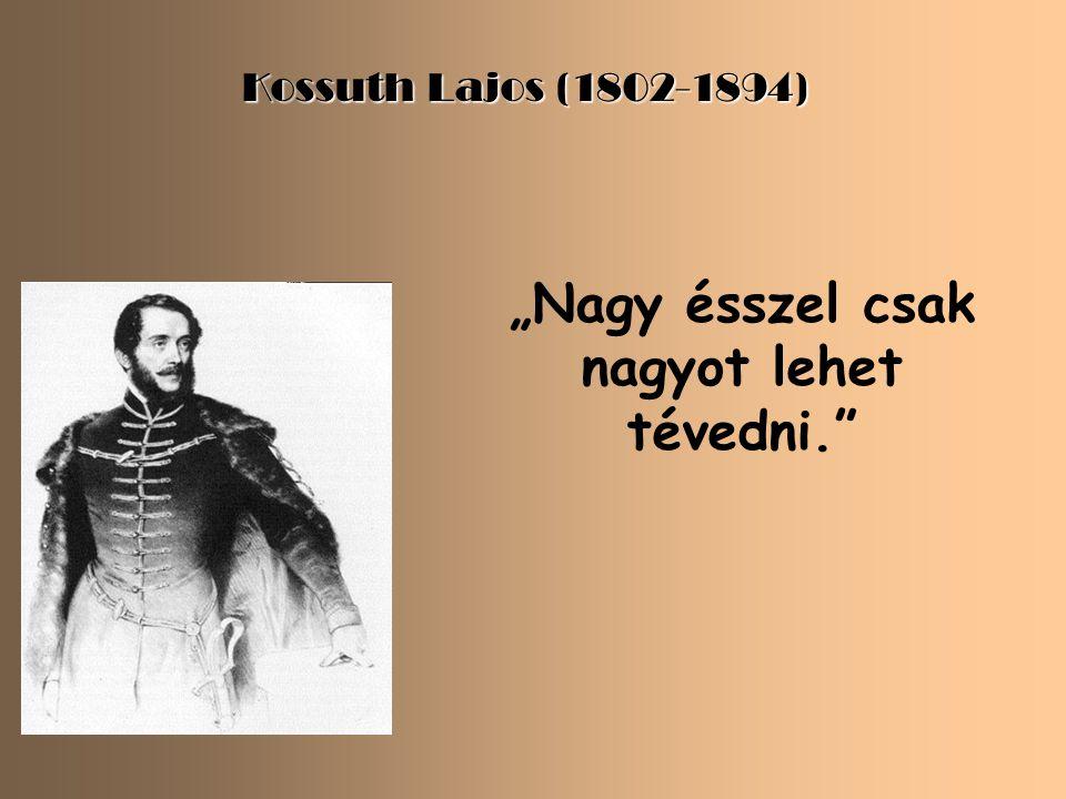 """Wesselényi Miklós (1796-1850) """"Rossz fejedelem csak rossz polgárok által és közt létezhetik."""