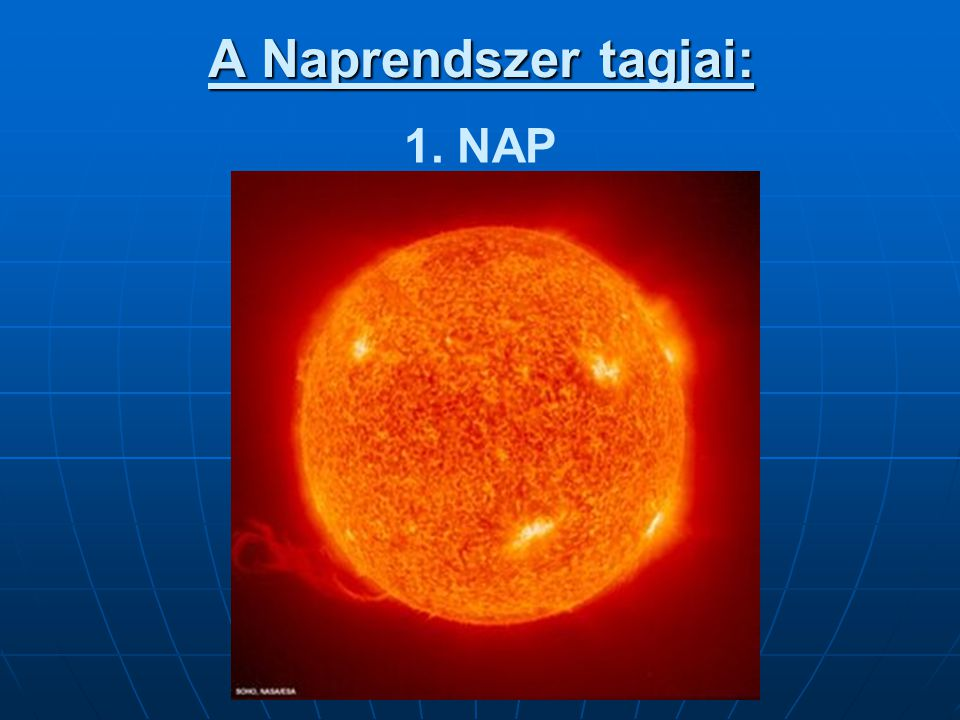 •A Nap belseje három részből áll:  Legbelül a centrális mag található.