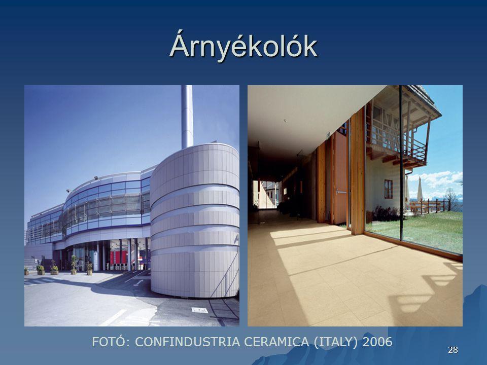 28 Árnyékolók FOTÓ: CONFINDUSTRIA CERAMICA (ITALY) 2006
