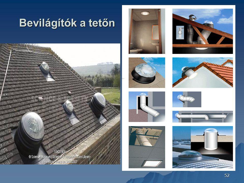 52 Bevilágítók a tetőn FOTÓ: CONFINDUSTRIA CERAMICA (ITALY) 2006