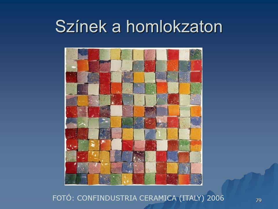 79 Színek a homlokzaton FOTÓ: CONFINDUSTRIA CERAMICA (ITALY) 2006