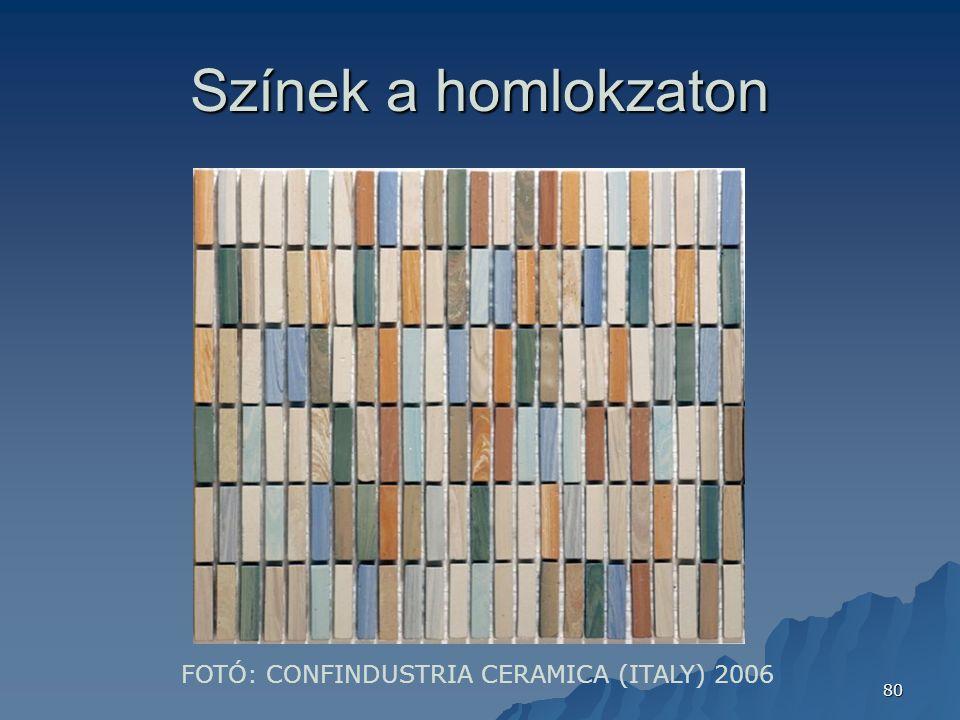 80 Színek a homlokzaton FOTÓ: CONFINDUSTRIA CERAMICA (ITALY) 2006