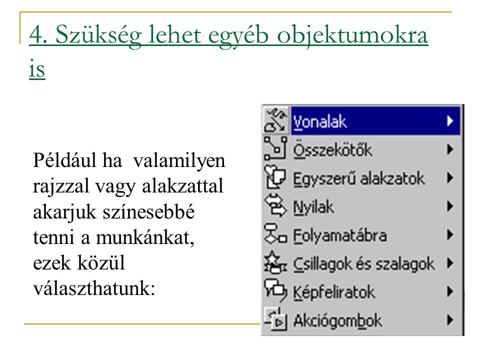 3. Ha esetleg diagramra is szükség van - a diagram ikon segítségével megnyithatjuk és a megjelenő táblázatban lévő adatok módosításával készíthetünk e