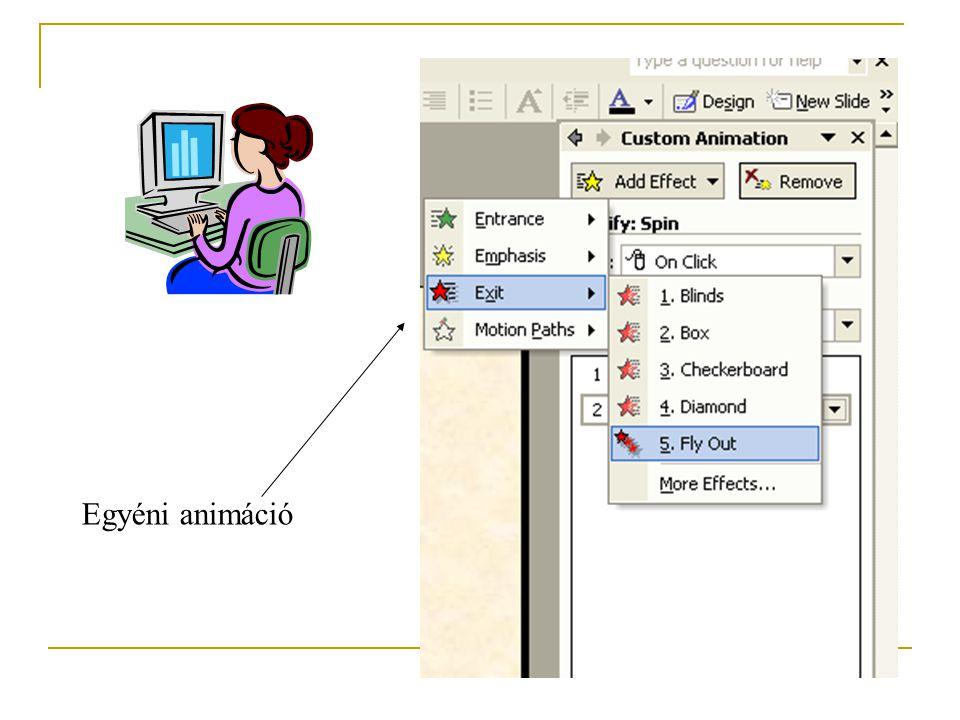 Objektum egyedi animációja
